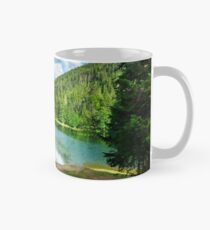 lake near the mountain in pine forest Classic Mug