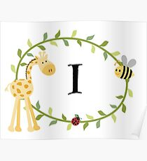 Nursery Letters I  Poster