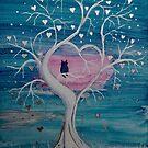 Owl in a Heart Shaped Tree by FrancesArt