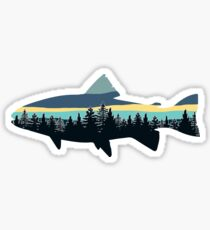 Fish Tree Line Sticker