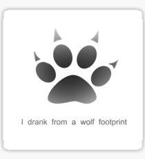 Wolf Paw Sticker Redbubble