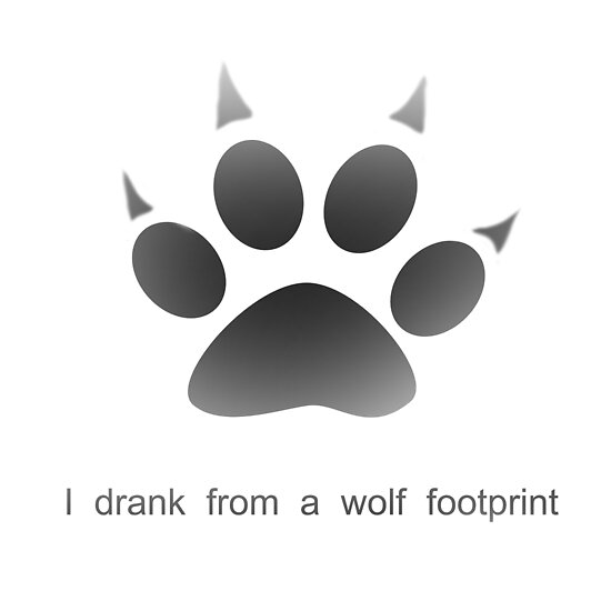 Wolf Footprint Werewolf Poster By Auregpn Redbubble