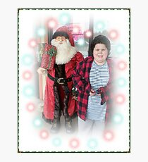 Michael And The Pet Store Santa Photographic Print