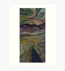 The Road Less Travelled - Embroidery - Textile Art Art Print
