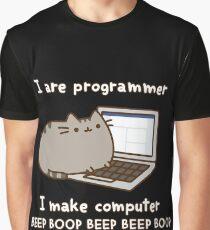 Programmer Cat Graphic T-Shirt