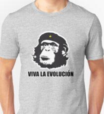 Darwin Viva La Evolucion Funny Monkey Evolve Unisex T-Shirt