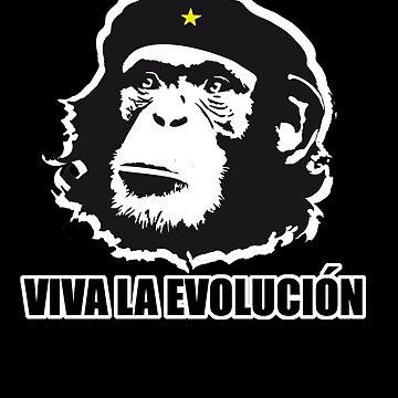 Darwin Viva La Evolucion Funny Monkey Evolve by evolucion