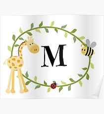 Nursery Letters M Poster