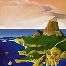 Skull Island - King Kong Retro Travel Poster by forge22