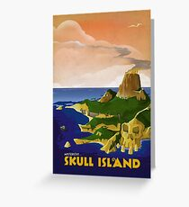 Skull Island - King Kong Retro Travel Poster Greeting Card