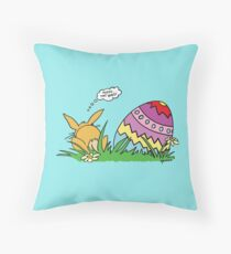 The Easter Bunny Throw Pillow