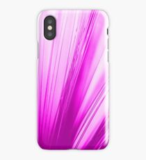 pink optic fiber iPhone Case/Skin