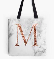 Monogram rose marble M Tote Bag