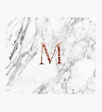 Monogram rose marble M Photographic Print