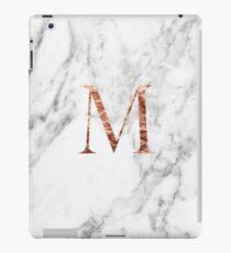 Monogram rose marble M iPad Case/Skin