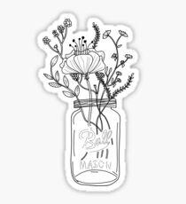 Wildflowers in a Mason Jar Sticker
