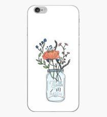 Aquarell Blumen in einem Einmachglas iPhone-Hülle & Cover