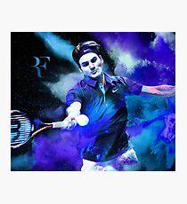 Roger Federer Blue Photographic Print