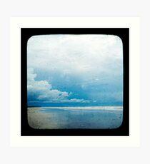 Beach Blue Art Print