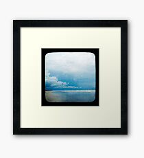 Beach Blue Framed Print
