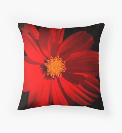 Big Red Flower Throw Pillow