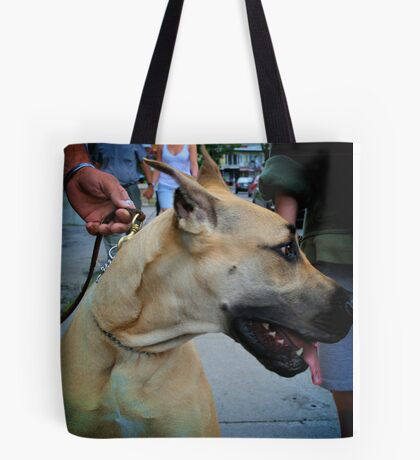 Dog Look away Tote Bag