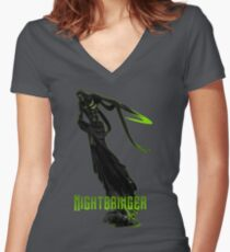 Nightbringer Women's Fitted V-Neck T-Shirt