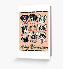 Dog Breeds Collection  Greeting Card