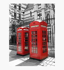 London Red Telephone Box Photographic Print