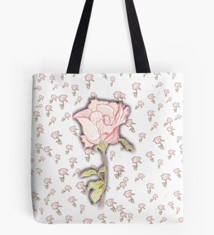 Baby Rose Sketch Tote Bag
