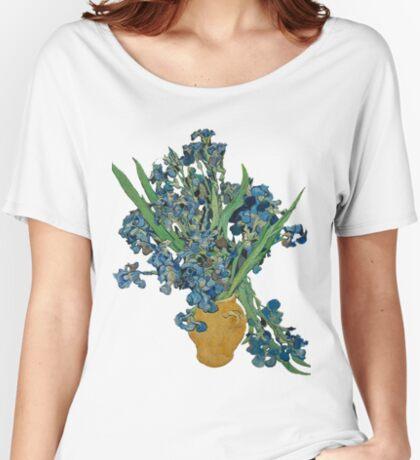 Van Gogh Iris Grunge Women's Relaxed Fit T-Shirt