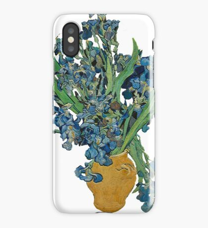 Van Gogh Iris Grunge iPhone Case