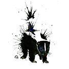 Skunk - Ink Blot by Lisa Whitehouse