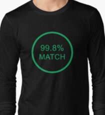 Black Mirror 99.8% match Long Sleeve T-Shirt