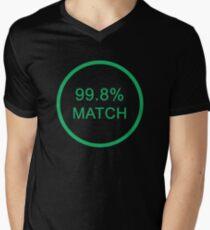 Black Mirror 99.8% match Men's V-Neck T-Shirt
