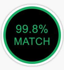 Black Mirror Match Sticker