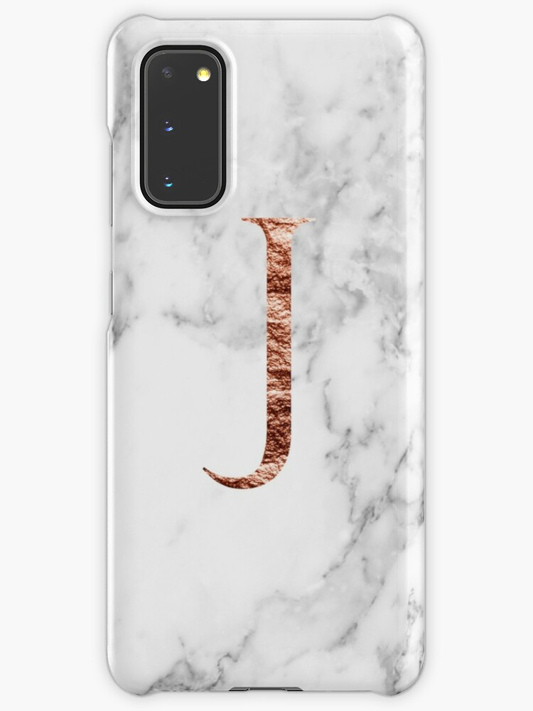 Monogram Rose Marble J Case Skin For Samsung Galaxy By Marbleco Redbubble