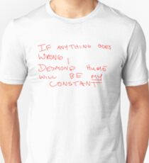 Desmond Hume Constant (Faraday's notebook) - Lost Unisex T-Shirt