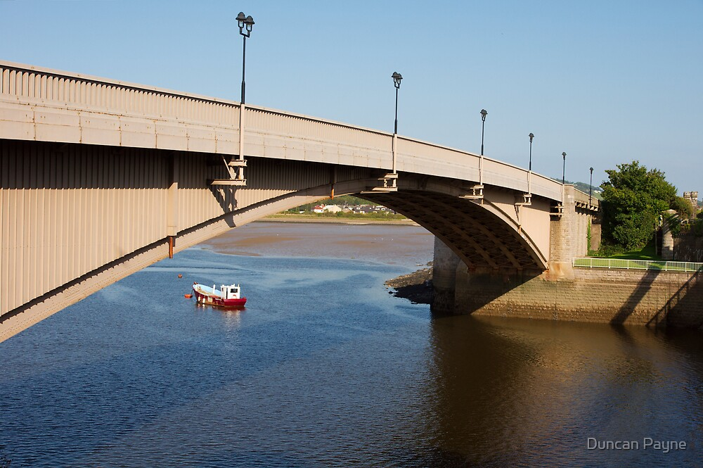 Arch Bridge Over a Boat by Duncan Payne