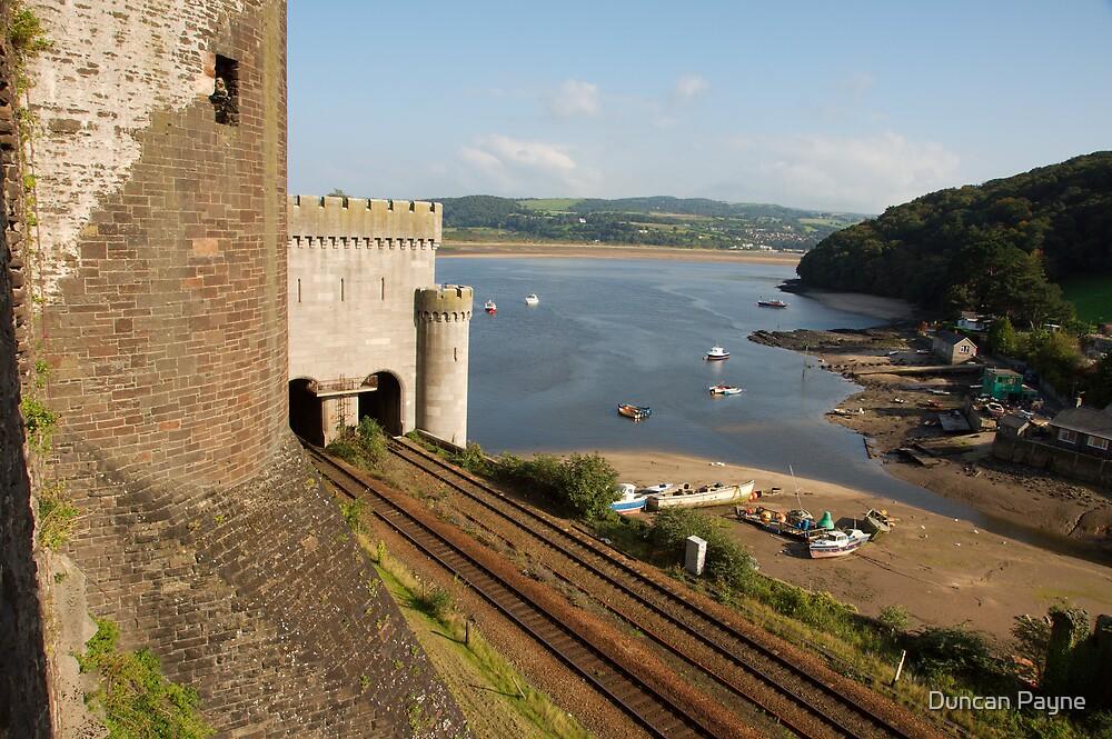 Train Tracks into a Castle by Duncan Payne