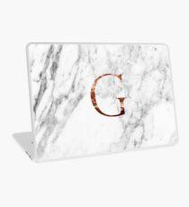 Monogram rose marble G Laptop Skin