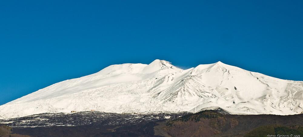 Etna  full of snow by Andrea Rapisarda