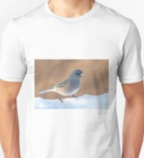 Junco in the snow Unisex T-Shirt