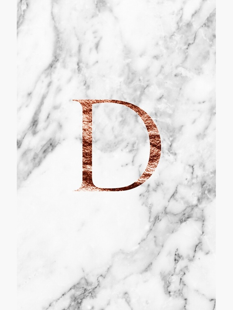 Monogram rose marble D by marbleco