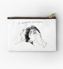 """""""I Remember Everything"""" Line Art Studio Pouch"""