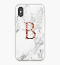 Monogram rose marble B iPhone Case