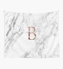 Monogram rose marble B Wall Tapestry