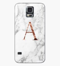 Monogram rose marble A Case/Skin for Samsung Galaxy