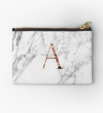 Monogram rose marble A Studio Pouch
