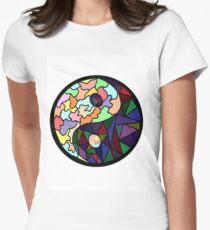 Yin Yang Sticker Women's Fitted T-Shirt